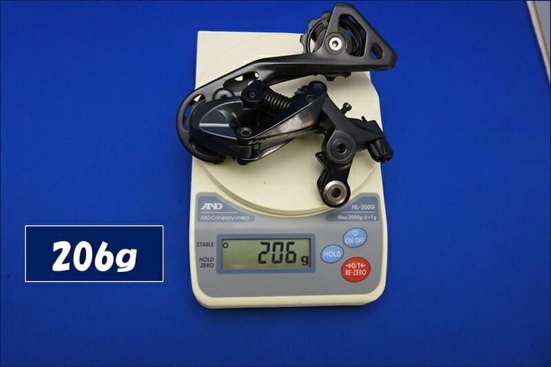 リアディレイラー RD-R8000の重量