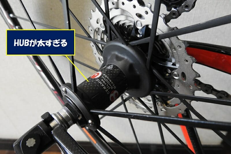 「Campagnolo」のハブは太い