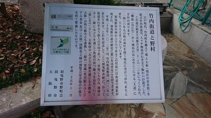 竹内街道と野村