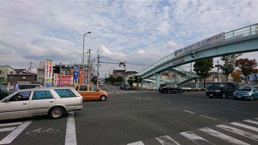 軽里北交差点(国道170号との交点)