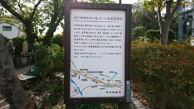 役行者錫杖水の道しるべ地蔵菩薩像の説明板
