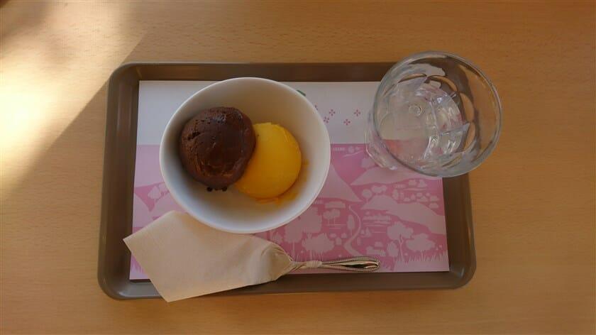 チョコレートとマンゴー。これで ¥500-。