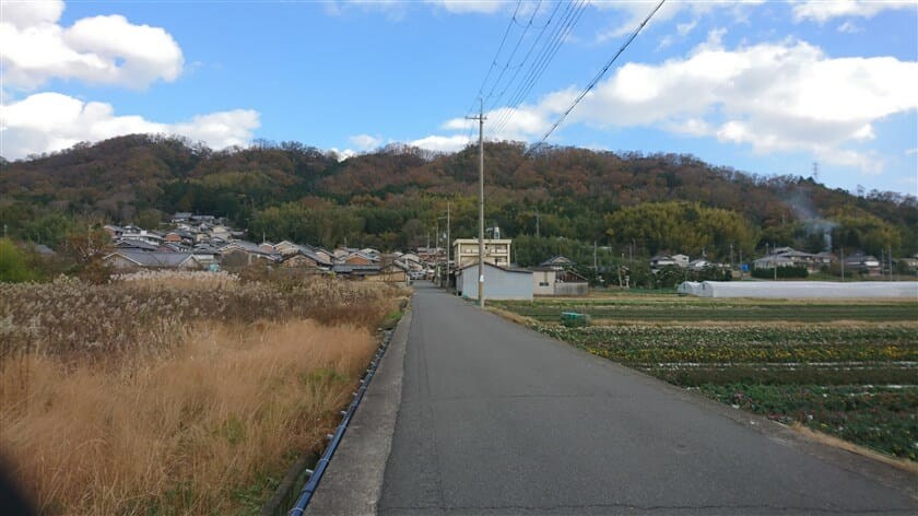 竜田川を渡り、R168に出てすぐを左折