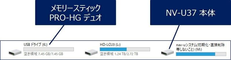 パソコンに「nav-uシステム」と「リムーバブルディスク」が認識される