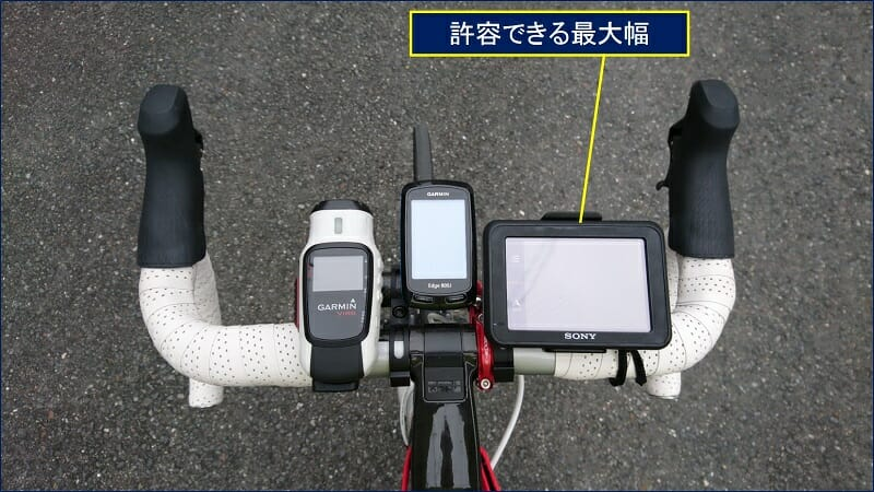 NV-U37 をバイクに取り付ける