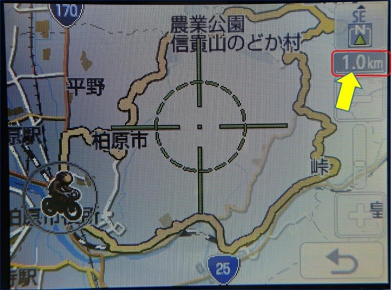 地図を【 1km 】に拡大してみた