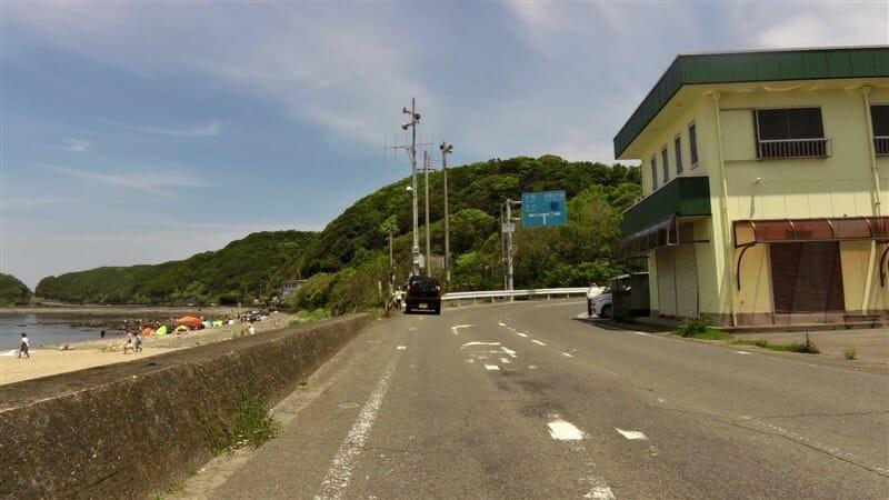 R7:粉河加太線が終わり、R65:岬加太線になる地点