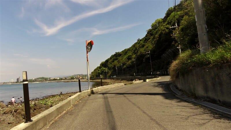 みさき公園の北側海岸線。大阪湾オーシャンズ方面。