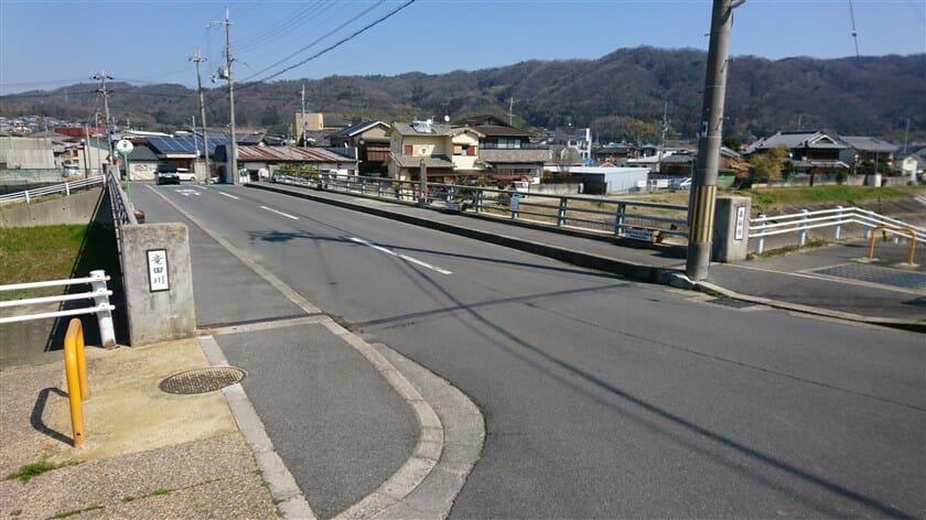 竜田川に出る
