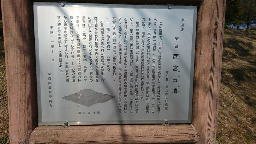西宮古墳の案内板