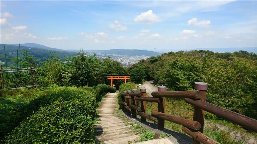 「水神社」鳥居からの階段