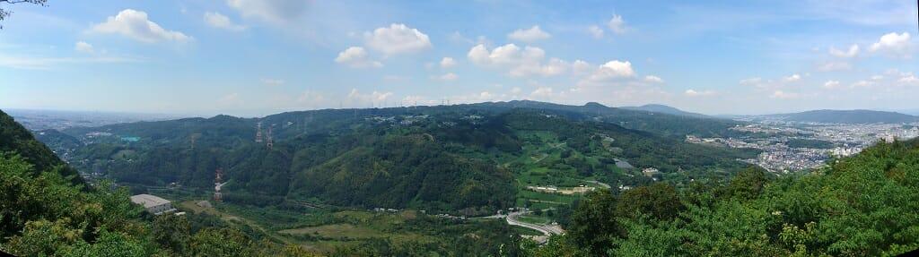 西方向:大阪側の眺望