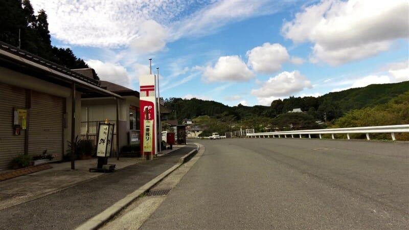 東山郵便局前を通過