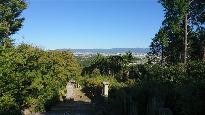 矢田寺から見た奈良盆地