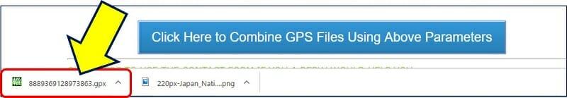 タイムスタンプが付いた、gpxファイルがダウンロードできる
