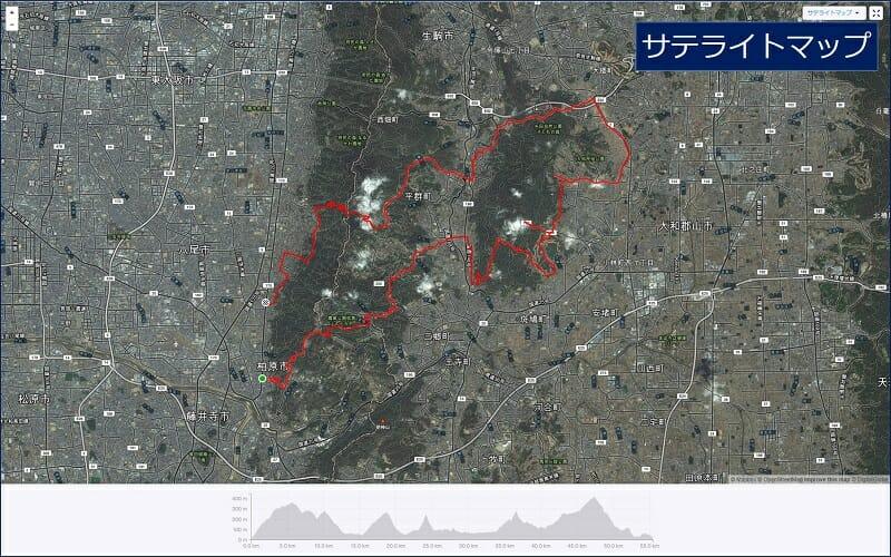 サテライトマップの地図