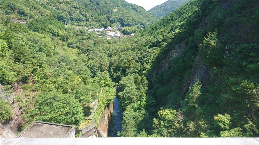 滝畑ダムからの石川