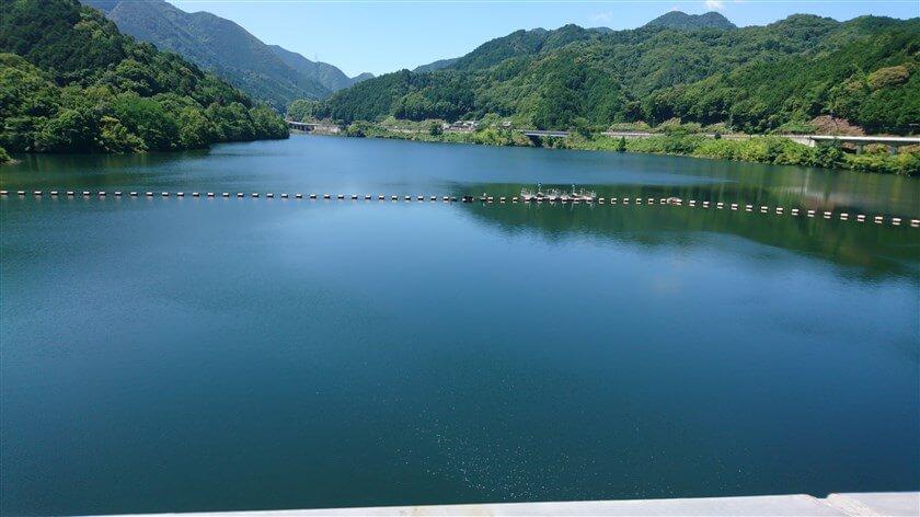 滝畑ダムの湖面