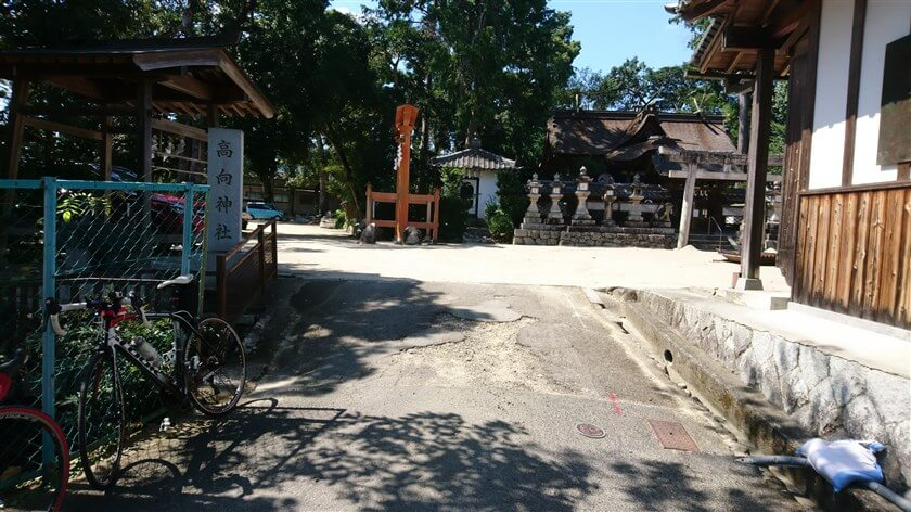 高向神社 東側入り口