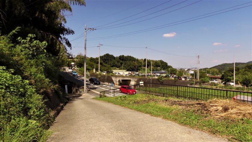 「道の駅 奥河内くろまろの郷」へのショートカットになっていた