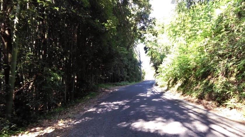烏帽子形公園に向かう坂道