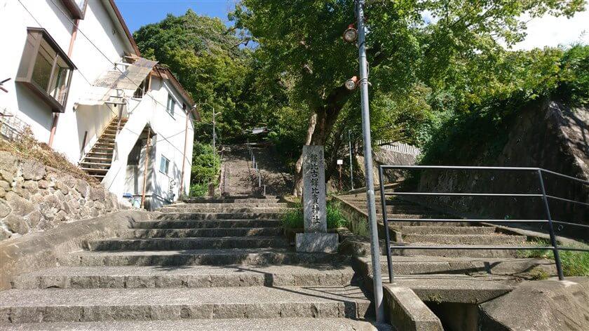 鐸比古鐸比売(ぬでひこ ぬでひめ)神社の階段