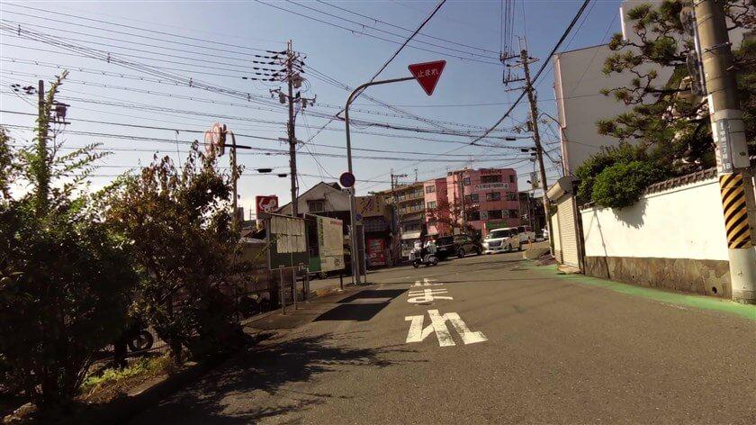 近鉄長野線 川西駅からの道に合流する
