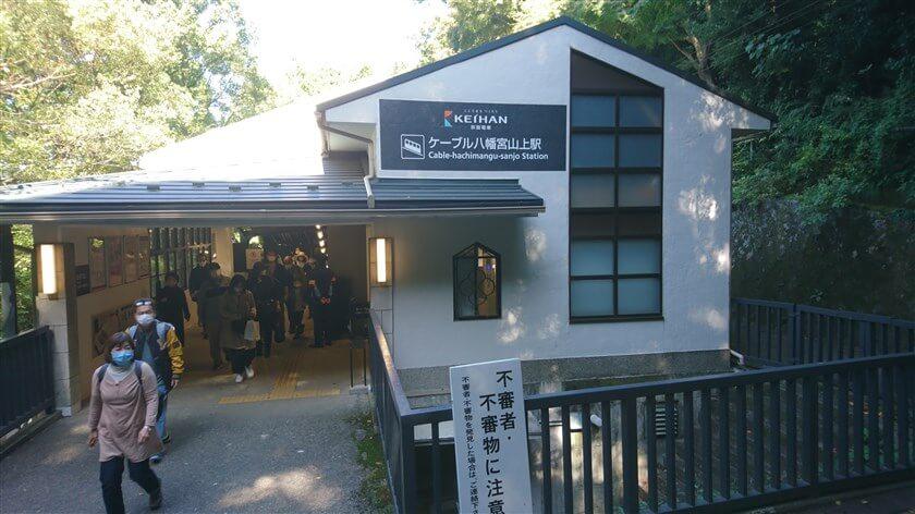 参道ケーブル「八幡宮山上駅」