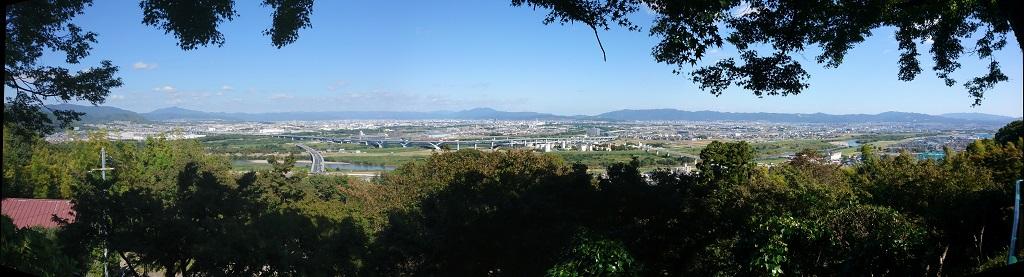 男山展望台から眺める、京都市街の風景