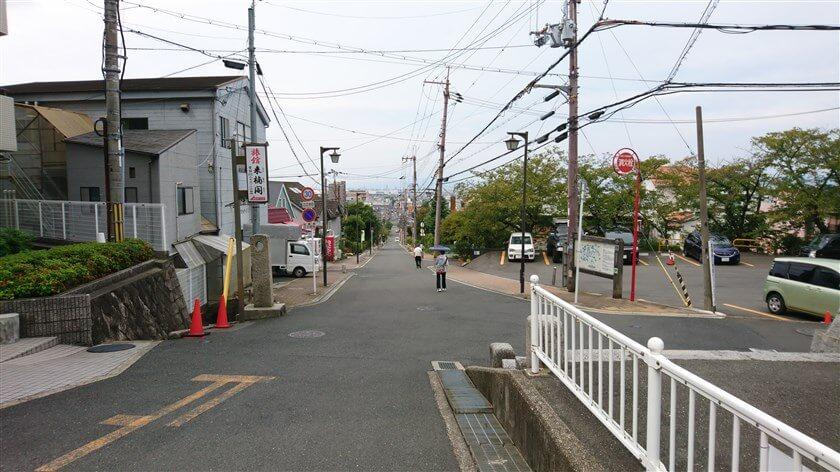 四条畷神社:入口から見た参道