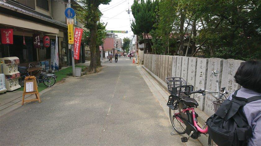 神社前の参道:下手