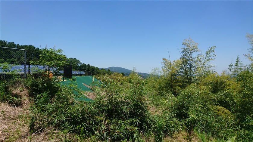 「A」地点からは、生駒山のテレビ塔が見える