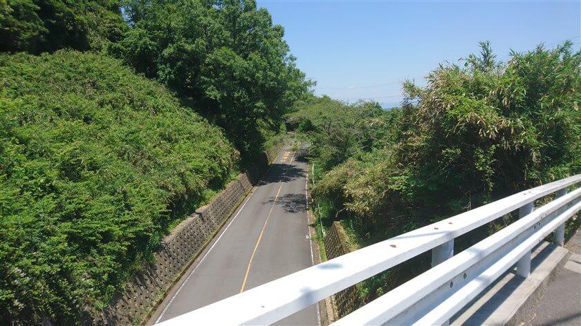 この橋は、信貴生駒スカイラインを跨いでいる(北側の様子)
