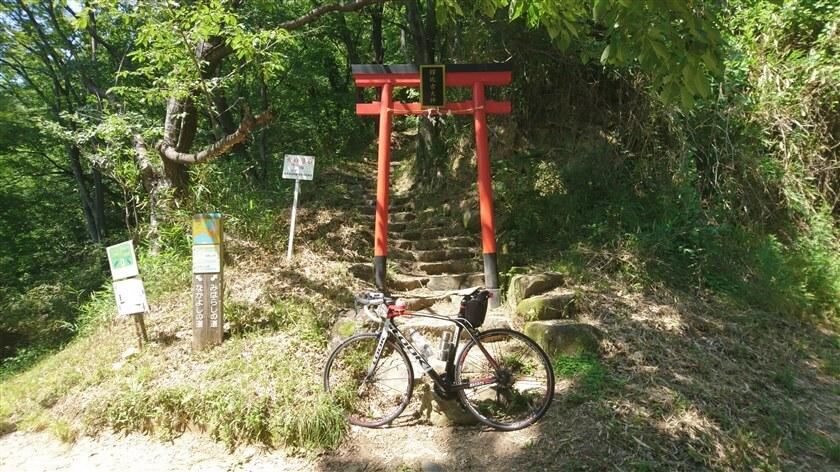 高尾山に登る入り口にある、「鐸比古大神」の鳥居の前でのスナップ写真