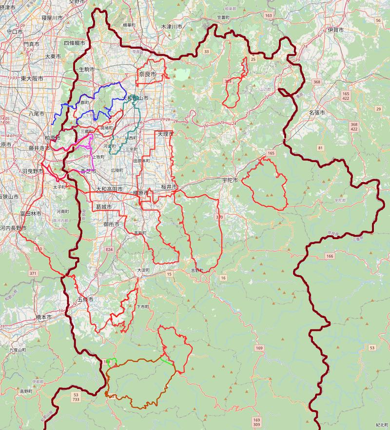 奈良県のロードバイクコース